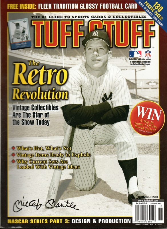 2001 November Tuff Stuff Price Guide W Mickey Mantle On