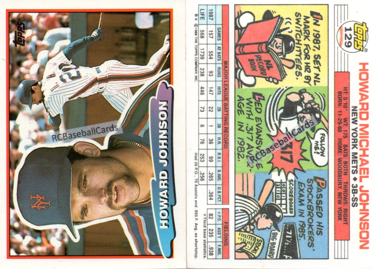 1988 New York Mets Baseball Trading Cards Baseball Cards