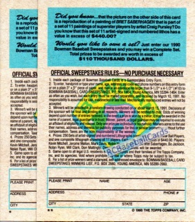 1990 Baseball Error Trading Cards For Sale Baseball Cards By