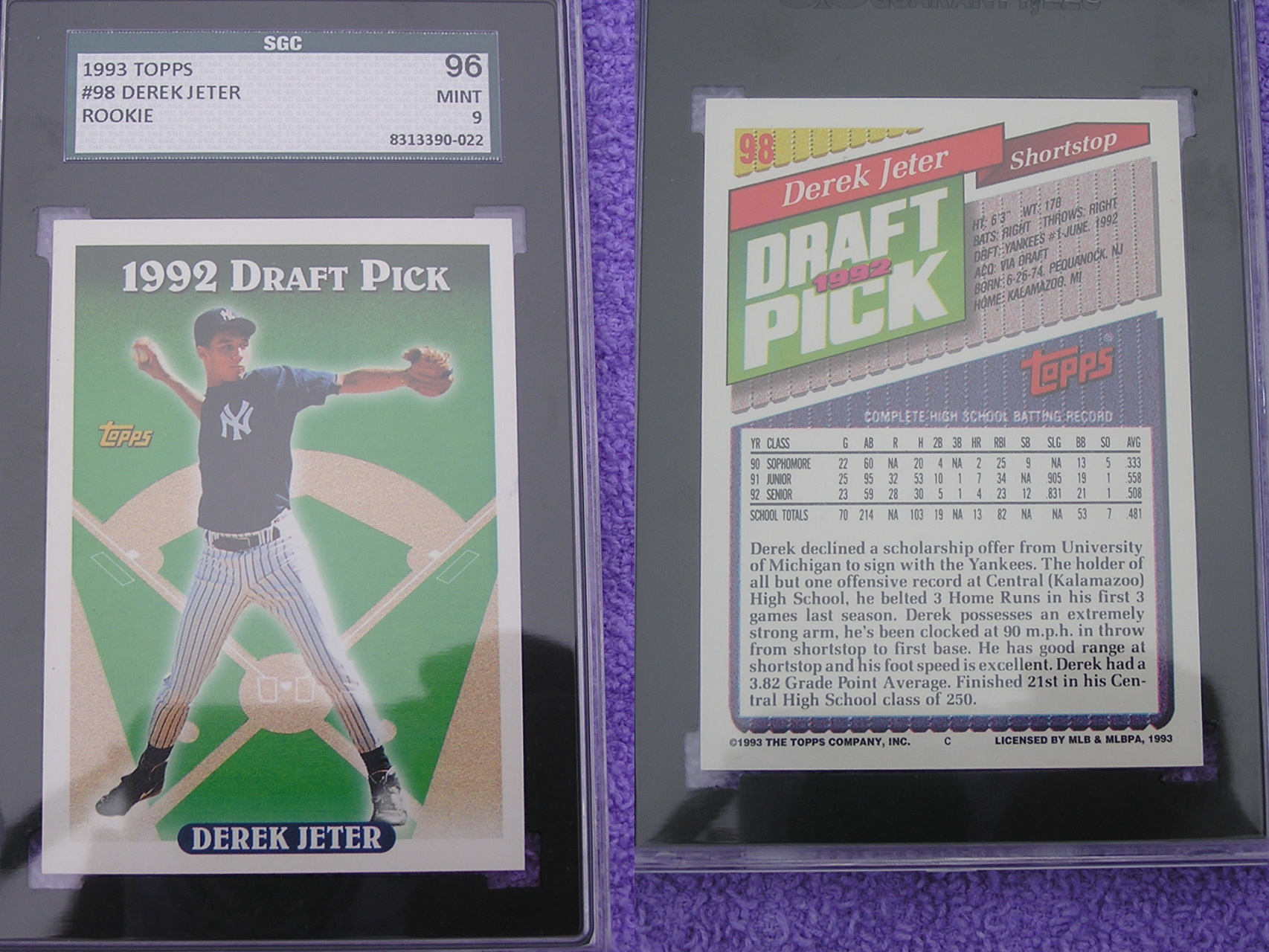1990 1994 Graded Baseball Trading Cards For Sale Baseball