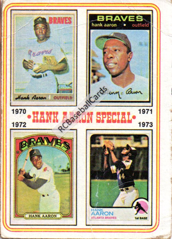 1970 1974 Atlanta Braves Vintage Baseball Trading Cards
