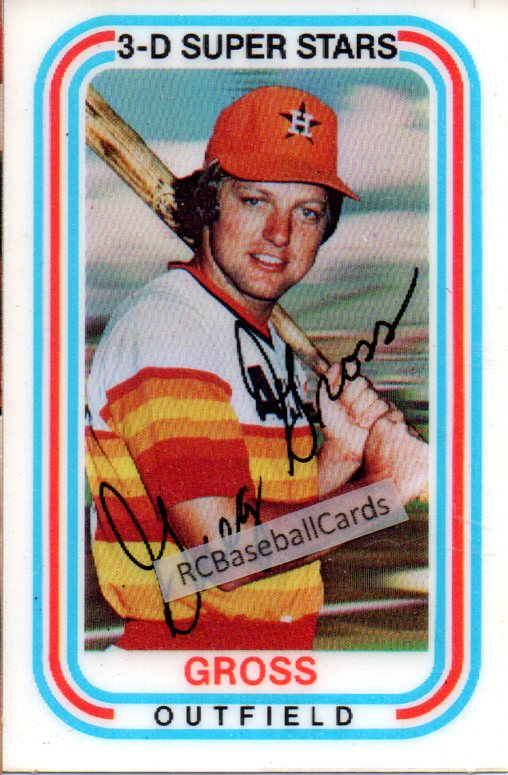 1975 1977 Houston Astros Vintage Baseball Trading Cards