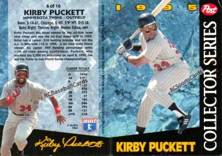1995 Minnesota Twins Baseball Trading Cards Baseball Cards