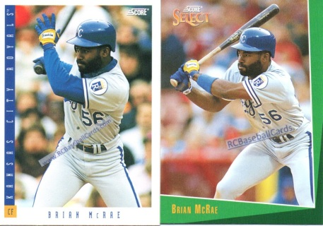 1993 Royals Baseball Trading Cards Baseball Cards By