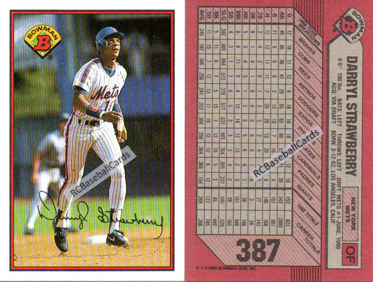 1989 New York Mets Baseball Trading Cards Baseball Cards